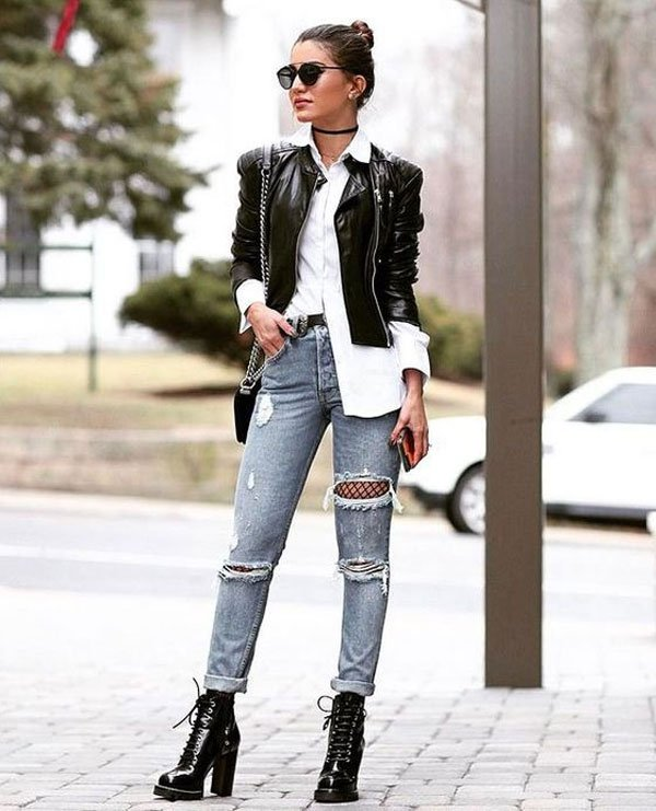 Camila Coelho - camisa-branca-jaqueta-calça-destroyed-meia-arrastão - meia-arrastão - inverno - street style