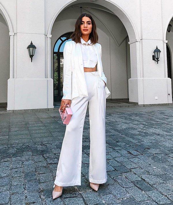 Camila Coelho - top-calca-blazer-look-monocromatico - monocromático - meia estação - street style