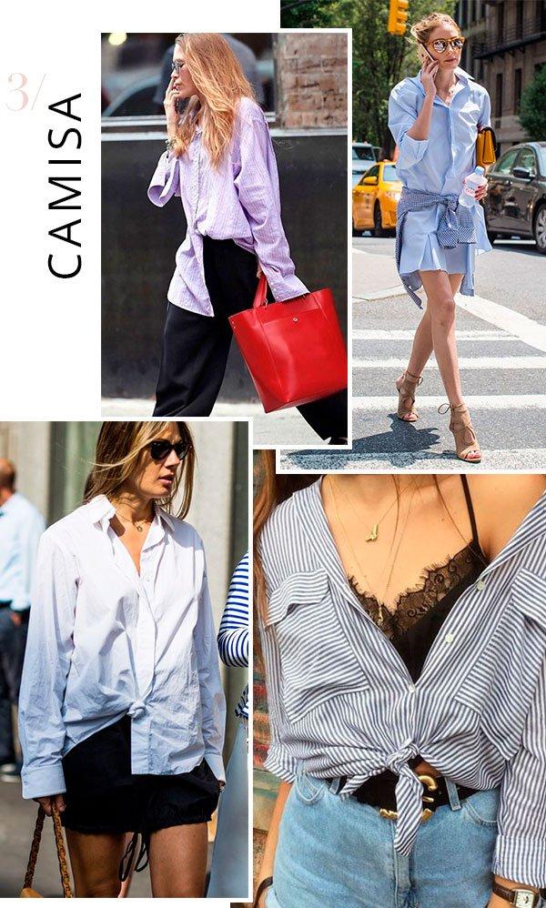 it girl - camisa - oversized - verão - street style