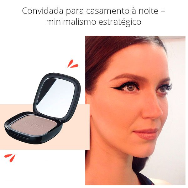 camento - noite - make - convidada - make up