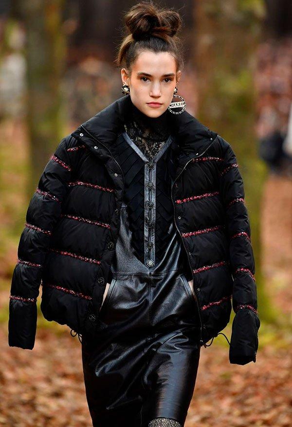 modelo - desfile - puff jackets - inverno - passarela