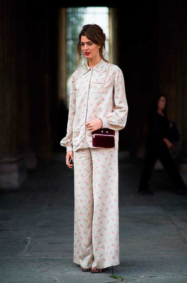 It Girl - look-pijama-florid-calça-camisa - pijama - Meia Estação - Street Style