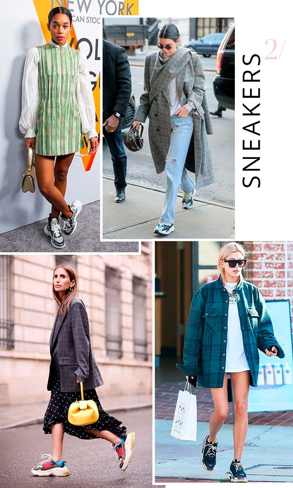 it girls - dad sneakers - tenis oversized - verão e inverno - street style