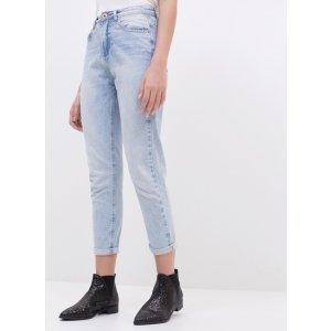 Calça Mom Em Jeans