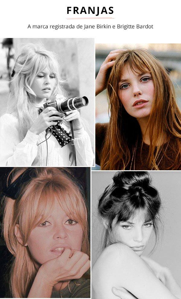 Jane Birkin e Brigitte Bardot - vintage - franjas - verão e inverno - street style