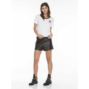 T-Shirt Rosa Now Or Never Tamanho: M - Cor: Preto