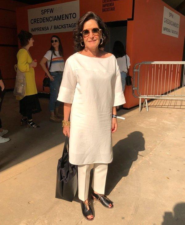 Glória Kalil - blusa-branca-calca-branca-monocromátco - look monocromático - verão - street style SPFW
