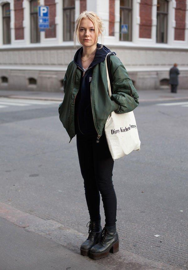 it-girl - moletom-bomber-jacket-militar-coturno - bomber militar - inverno - street style