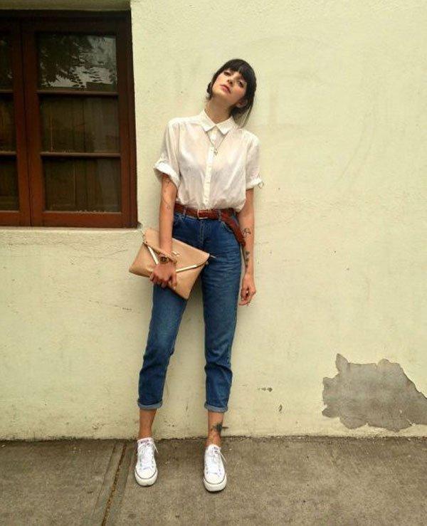it-girl - camisa-branca-calça-jeans-mom-all-star - camisa branca - meia estação - street style