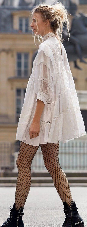 it-girl - vestido-branco-boho-meia-arrastão - meia-arrastão - verão - street style