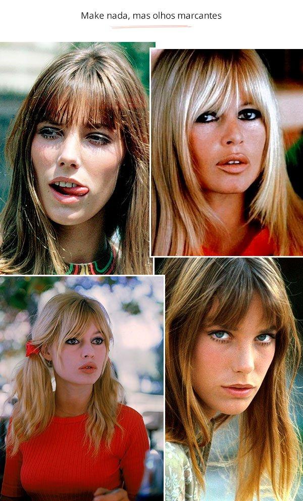 Jane Birkin e Brigitte Bardot - vintage - olhos marcantes - verão e inverno - street style