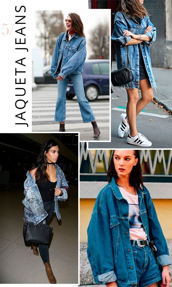 it girl - jaqueta jeans - oversized - verão - street style