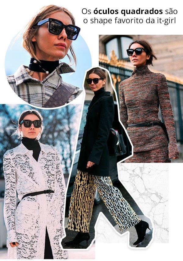 Julie Pelipas - street style - oculos quadrados - verão e inverno - street style