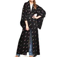 kimono preto estampa