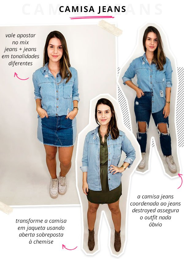 lara lincoln - cotton on - camisa jeans - verão - steal the look