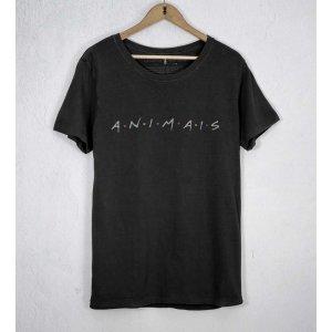 Camiseta Animais Tamanho: P - Cor: Preto