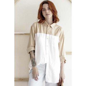 Camisa Casual 2 Cores Tamanho: P - Cor: Branco