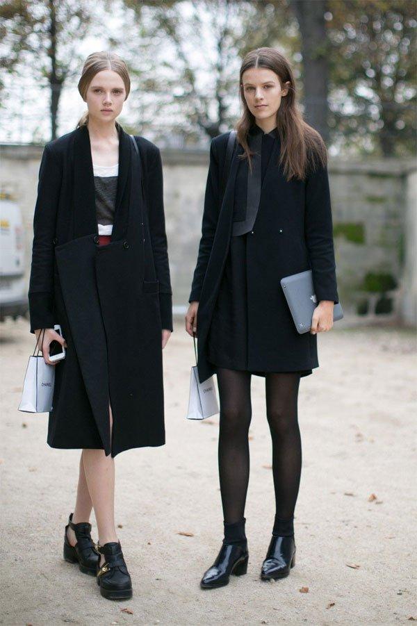 it girl - calça-preta-casaco-preto-blusa-preta-oculos-preto-bolsa-preta - preto - meia estação - street style
