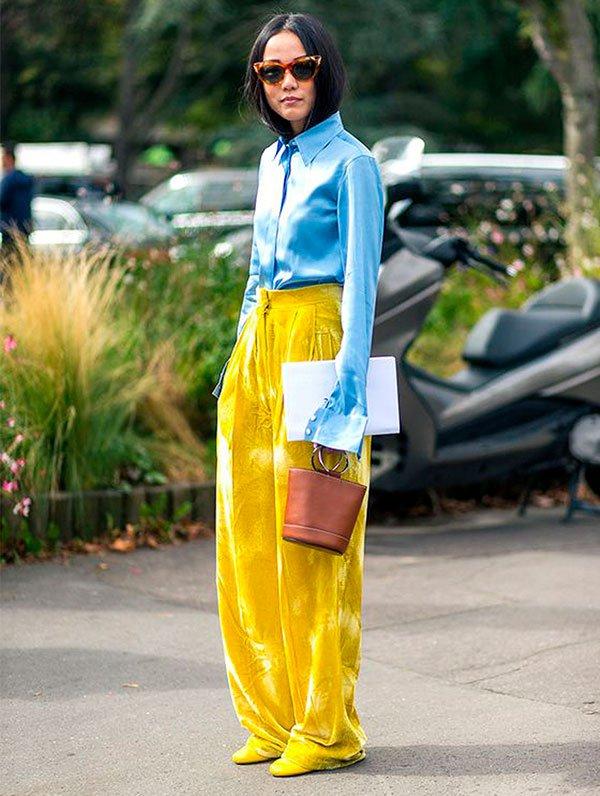 ir girl - calça amarela - color blocking - verão - street style