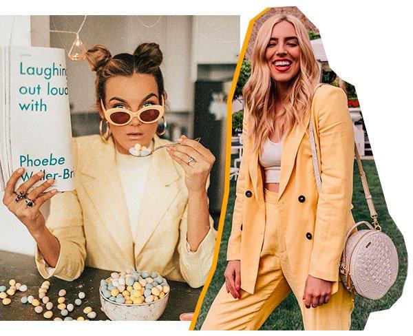 it girls - amarelo - office look - verão - street style