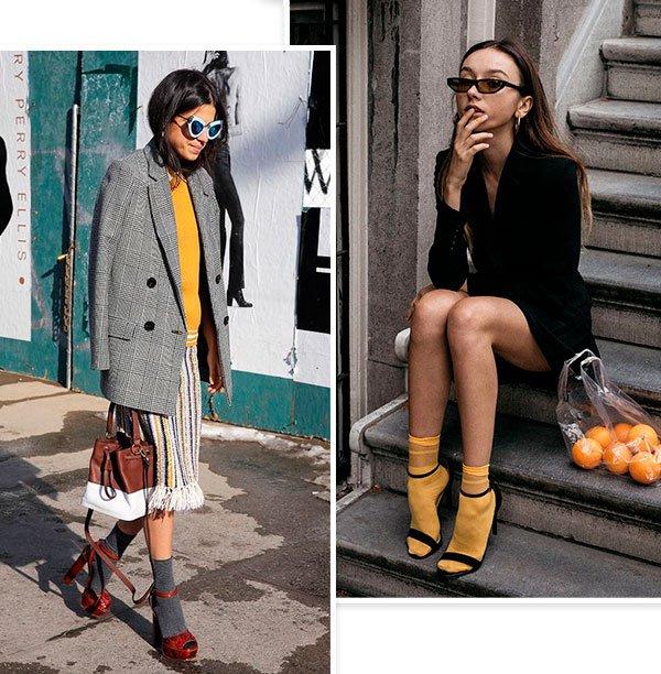 fashion girls - sandalia com meia - sandalia com meia - verão - street style