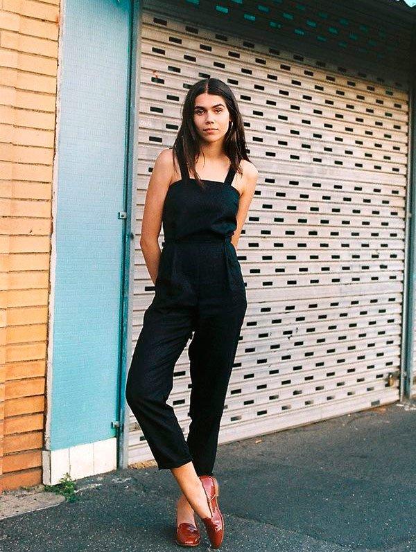 It Girl - macacao-reto-preto-liso-regata - macacão - Meia Estação - Street Style