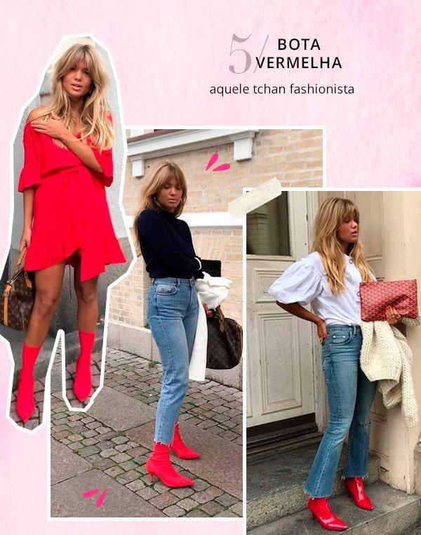 matilda djerf - bota vermelha - bota - verão - street style