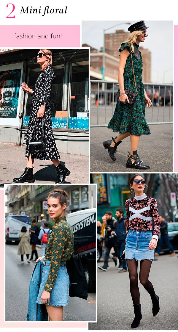 it girls - floral - mini floral - verão - street style