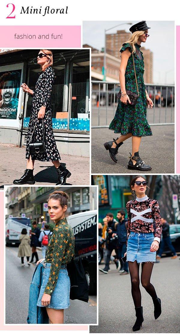 it girls - floral - mini floral - verão - street style
