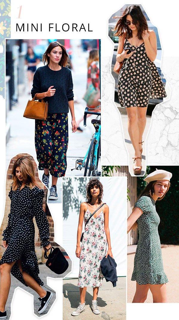 it girls - floral - estampa - verão - street style