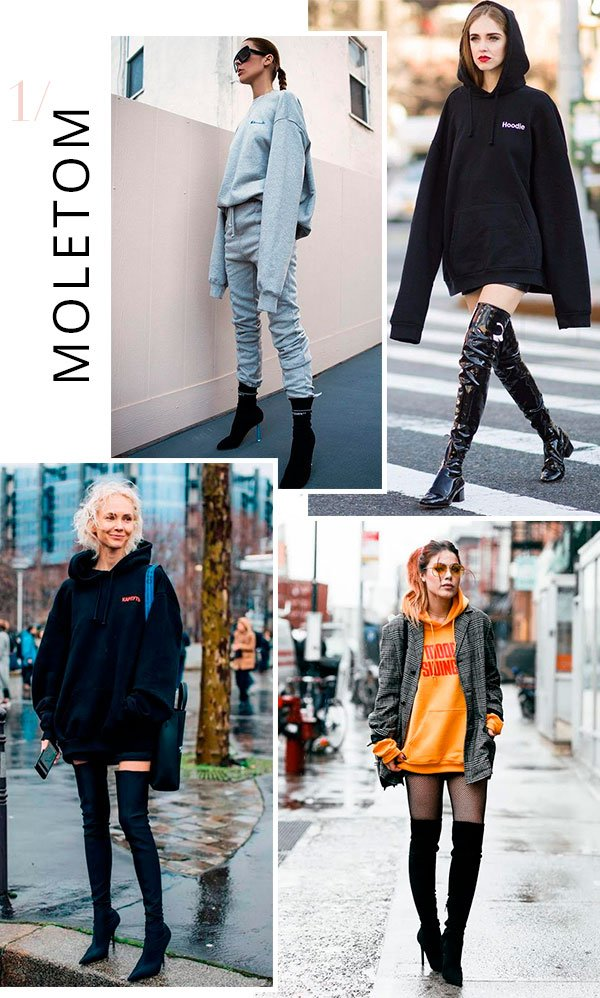 it girls - moletom - oversized - verão e inverno - street style
