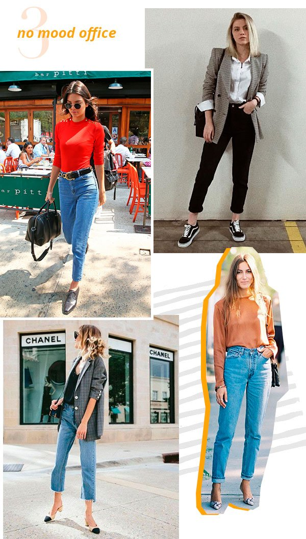 it girls - mom jeans - office - look - street style