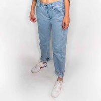 Calça Mom Fit Vintage Levis Tamanho: 40 - Cor: Azul