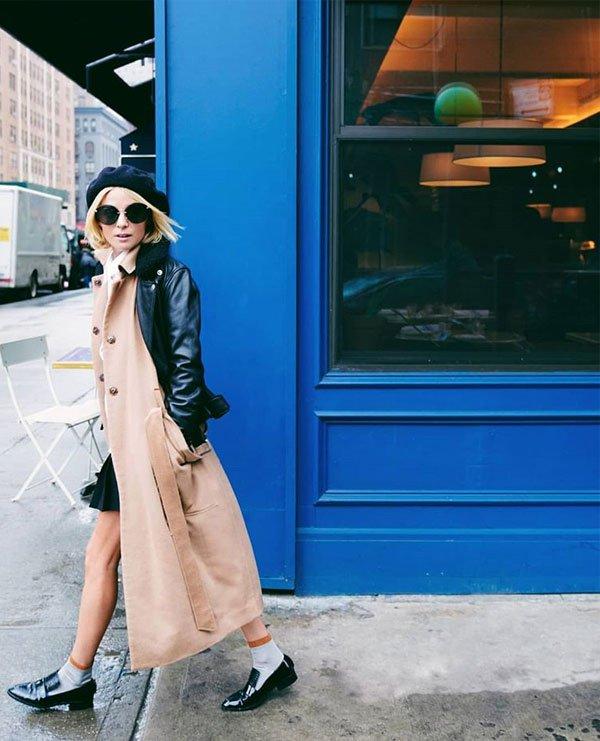 Nadia Fairfax - camisa-saia-maxi-coat-jaqueta-couro - jaqueta couro - inverno - street style