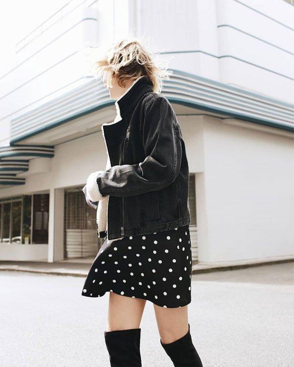 Nadia Fairfax - vestido-poá-jaqueta-otk-boots - otk boots - meia estação - street style