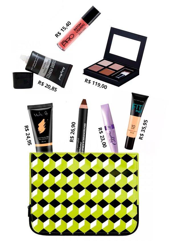 necessaire - make up  - barata  - produtos - produtos