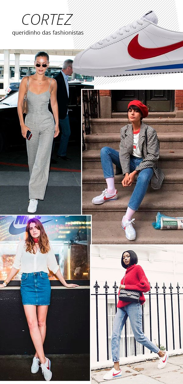 it girls - tenis - cortez nike - verão - street style