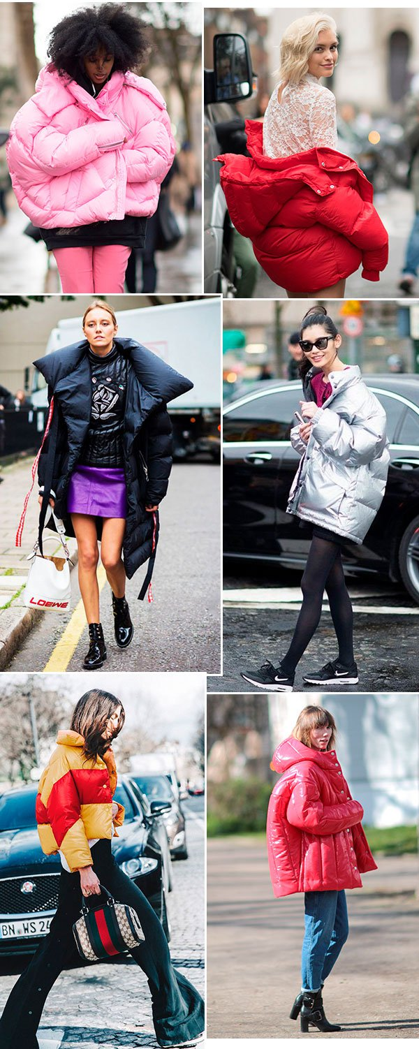 it girls - casacos - puff jackets - inverno - street style