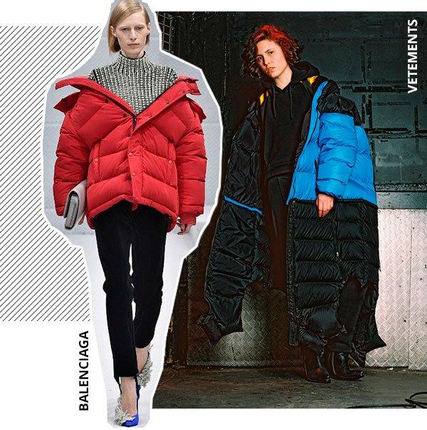 modelos - desfile - puff jackets - inverno - passarela