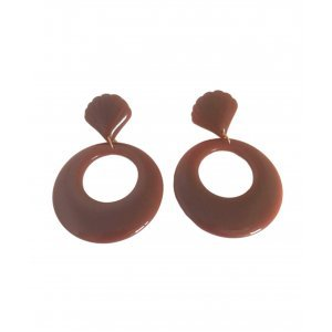 Brinco Acrylic Round Brown