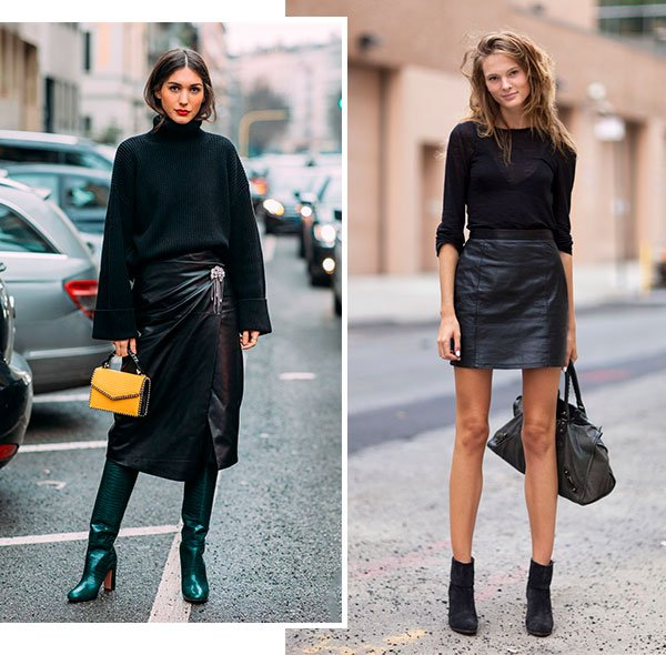 saia - couro - inverno - look - tendencia