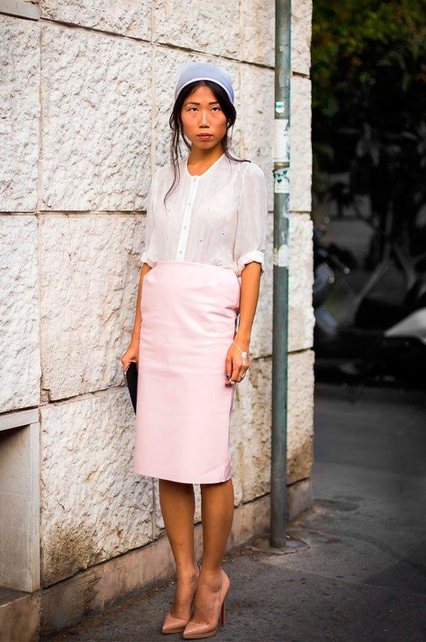 It Girl - saia-lapis-camiseta-branca-lenco-branco - lenço - Meia Estação - Street Style