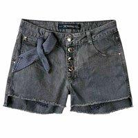 Shorts Feminino Hering Em Algodão Com Cintura Alta