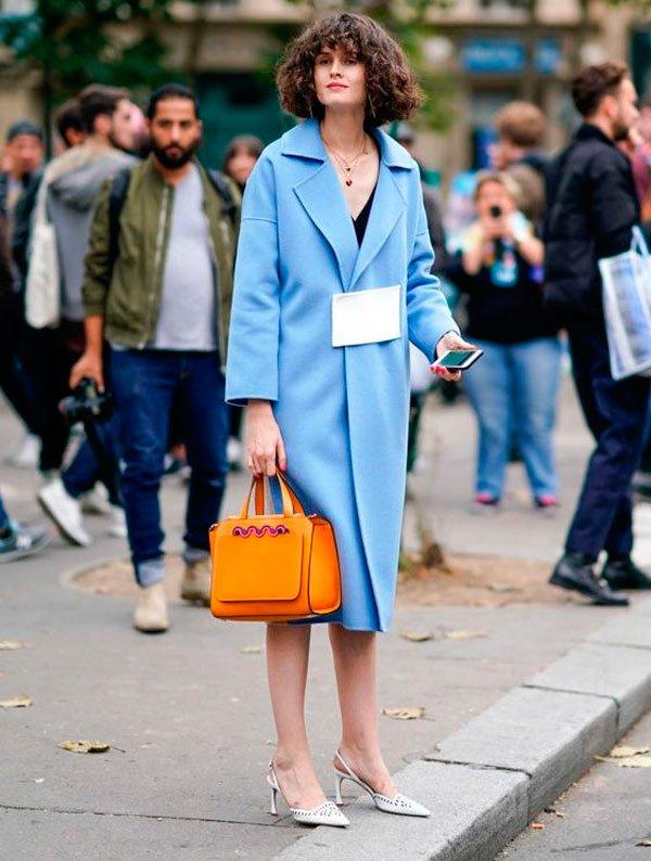 It Girl - overcoat-azul-sling-back-branco - sling back - Meia Estação - Street Style