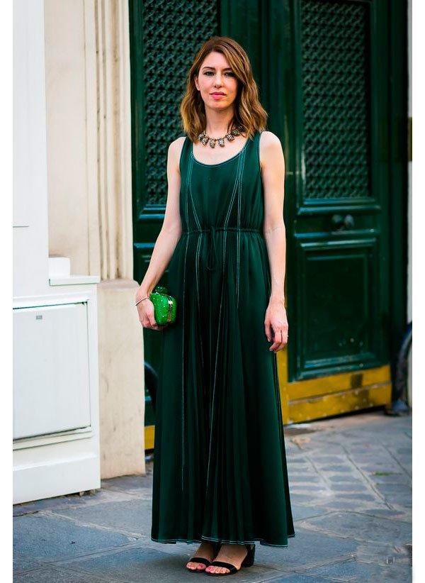 Sophia Coppola - vestido-midi-verde - vestido - Meia Estação - Street Style
