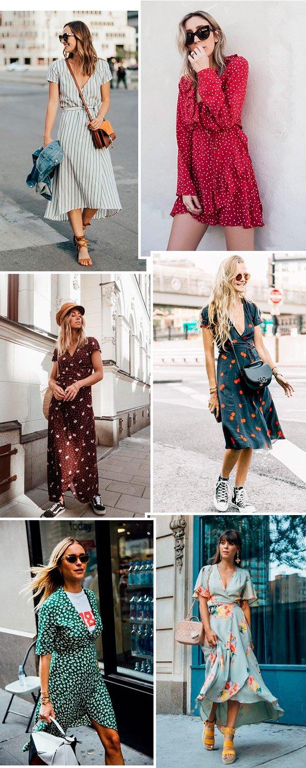 vestido  - wrap dress - it girls - verão - street style
