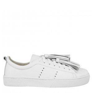 Sneaker Barbicacho Branco Tamanho: 34 - Cor: Branco