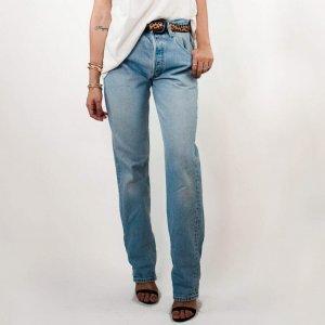 Calça Mom Vintage Levis Tamanho: 42 - Cor: Azul