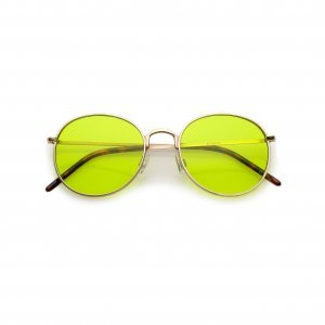 Óculos 70´s Yellow Tamanho: U - Cor: Preteado