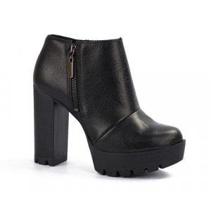 Ankle Tanara Boot Couro Preta